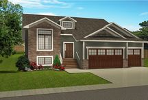Bi-Levels with Attached Garage / One of the most popular built plans today because of the allowance for larger windows in the lower level, making it as comfortable and bright as the main floor.