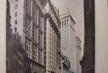 New York Prints / Antique Prints of Wall Street, etc.