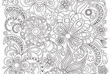 Inspiração Desenhos Colorir / Desenhos diversos para colorir, jardim secreto, floresta encantada entre outros.