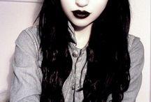 Gothic makeup o.o