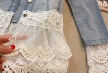 Adding lace to denim