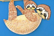 Storytime Sloths / Picture Books and activities for Storytime. See also board for Rainforest.