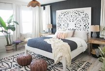 Boho bedding and decor