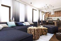 Stylizowane wnętrze z przewagą brązu i odcieni niebieskiego / Przedstawiamy stylowe wnętrze mieszkania, w którym królują kolory brązu i odcienie niebieskiego, a drewno stanowi jeden z głównych materiałów wykorzystanych w tym projekcie. Połączenie barwy drewna z kolorem niebieskim tworzy ciekawie kontrastującą całość, która stanowi o oryginalności wnętrza.  Po więcej inspiracji zapraszamy na naszą stronę: http://monostudio.pl/portfolio_item/stylizowane-wnetrze-przewaga-brazu-odcieni-niebieskiego/ oraz na Facebooka