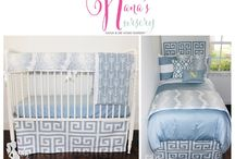 Grandma's Nursery / The Nana's Nursery line is perfect for grandparents to swaddle their heir(ess) in a nurturing nursery that coordinates with their home décor and style. From cribs, to college, to creative homes. Décor 2 Ur Door and Baby Bump Bedding have joined forces to create an out of this world shared room experience. Suite dreams!!