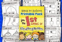 Kindergarten Back to School...
