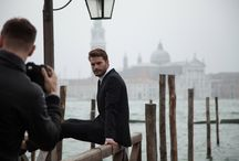 Hogan Men's Spring/Summer 2014 Campaign Collection Starring Jamie Dornan / Jamie Dornan behind the scenes in Venice for HOGAN Men's Spring/Summer 2014 campaign.
