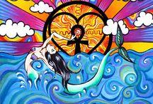 Ocean & Beach Artwork / Artwork inspired by the Ocean and beach. We love our planet!