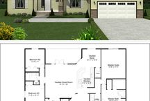 Dream Home / A dreamy board of sparkling wishes ;) Floor Plans, home building ideas / by Kassandra