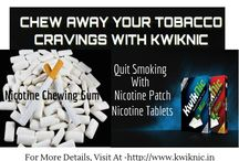 kwiknic Nicotine Gum /  kwiknic Nicotine Gum is used for smoking cessation therapy in India. Kwkinic also provide the nicotine patch, tablets etc known as anti smoking chewing gum.