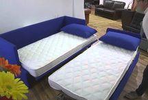 Divano letto Brera / Brera trundle bed -video- / Un comodo divano che si trasforma in un letto matrimoniale ortopedico con reti a doghe ? Buona visione...
