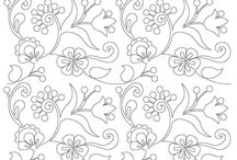 Floral Longarm Quilting Designs / Floral Longarm Quilting Designs  / by Vickey Hughes