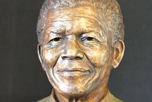 Bronze Sculpture - Nelson Mandela / A Portrait bust (head and shoulders) sculpture of someone special - deceased or living - can be commissioned.  http://www.sarahrichards.co.za/sculpture/portrait-busts/portrait-bust-of-nelson-mandela.html
