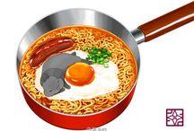 Food illustration references