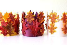 Autumn theme crafts