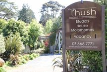 Hush Boutique Accommodation, Coromandel, New Zealand / Hush Boutique Accommodation oozes charm, rustic-sophistication and is a delightful escape for a holiday or a destination wedding.