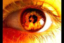 Eye fire #brown#red