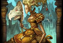 Fantasy / Fantasy illustrations, including urban fantasy, steampunk and the like.