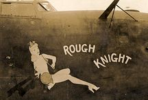 Flying Fortress / Pin-Up Nose Art from WWII's B-17 Flying Fortresses.  Though, the B-24 Liberator, B-29 Superfortress, and other random mil aircraft, are also represented.  Many of these planes make their appearance at Air Shows.  Where the planes didn't survive intact, many panels are viewable in mostly military museums around the U.S.