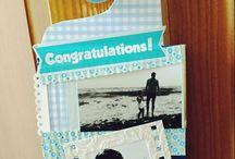 Tarjetas de cumpleaños/ birthday cards #scrapbooking
