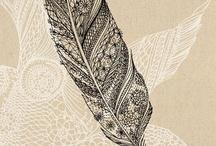 Декоративный текстурированный рисунок