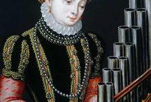 Cecilia playing / Santa Cecília na pintura