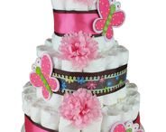 Diaper Cakes for Baby Girls