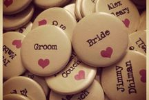 Wedding Favours / Quirky, cute and unique wedding badge favour ideas.
