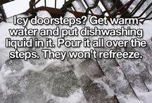 Icy doorstep