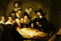 Rembrandt Art Parody / Rembrandt Art parodies, The Anatomy Lesson, Self portratits and more...www.lucymaddison.com @maddycartoons