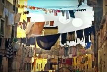 Clothes lines in Venice