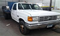 1991 Ford F450 - $5,995 / Make:  Ford Model:  F450 Year:  1991 Exterior Color: White Interior Color: Gray Doors: Two Door Vehicle Condition: Fair   Phone:  612-816-5938   For More Info Visit: http://UnitedCarExchange.com/a1/1991-Ford-F450-250355275206