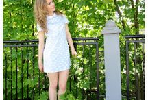 FASHION - White collar, horses, baby blue / http://alliness.blogspot.com/