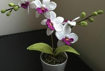 horgolt orchidea