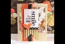 {cards - patterned paper} / by Bonnie