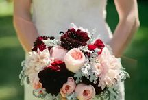 Red and cream bouquets