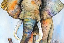 Cuarto de bebé con temática de elefante