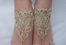 sandales crochetées
