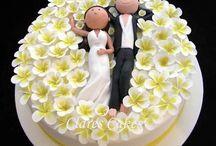 cake topper en porcelana fria