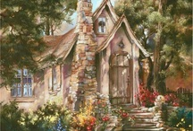 ❀...Storybook Cottage in Art