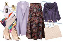 Fashion Hijab: Family of purple colors