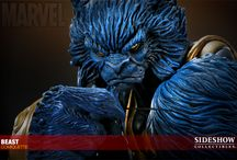"Beast sideshow (xmen) / Standing at 17"" H (431.8mm), this is another heavyweight Marvel comiquette of Beast from the xmen. I love the pose on this, captures the chilled out, yet ready to kick ass expression and pose. The blue is very eye catching too. Click the photo or description link to buy from the popular Forbidden Planet, remember its limited stock as always."