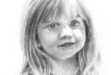 Portraits by Patricia Hargrove - Graphite / Graphite Portraits by Patricia Hargrove