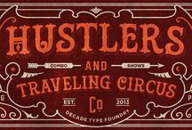 Circus lettering