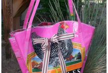 Oldflame Feed Bag Purse / Chickens to Dogs Rekindled Feed Bag Handbags