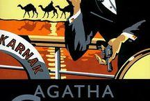 Agatha Christie / Le tableau consacré à Agatha Christie, une célèbre auteur anglais de romans policiers, qui vivait à la charnière du XIXe et du XXe siècle.