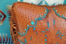 Filigree leatherwork