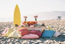 E&M Beach Wedding Decor Ideas / ideas and thoughts on possible wedding decoration for church, dinner and cocktail party.