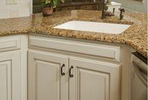 Kitchen Remodel Kept Gold Granite Counters