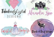 custom watercolor logo design / we are specialized on designing feminine custom logo design .